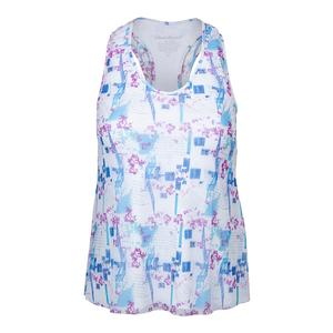 Women`s Mesh Layered Racerback Tennis Tank Print