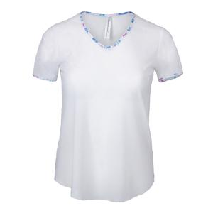 Women`s Mesh Layering Tennis Tee White