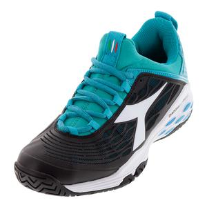 Women`s Speed Blueshield Fly AG Tennis Shoes Black and Ceramic
