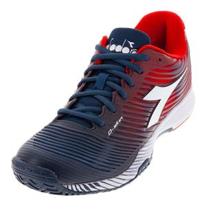 Men`s S Competition 4 AG Tennis Shoes Dark Blue and Red Capital