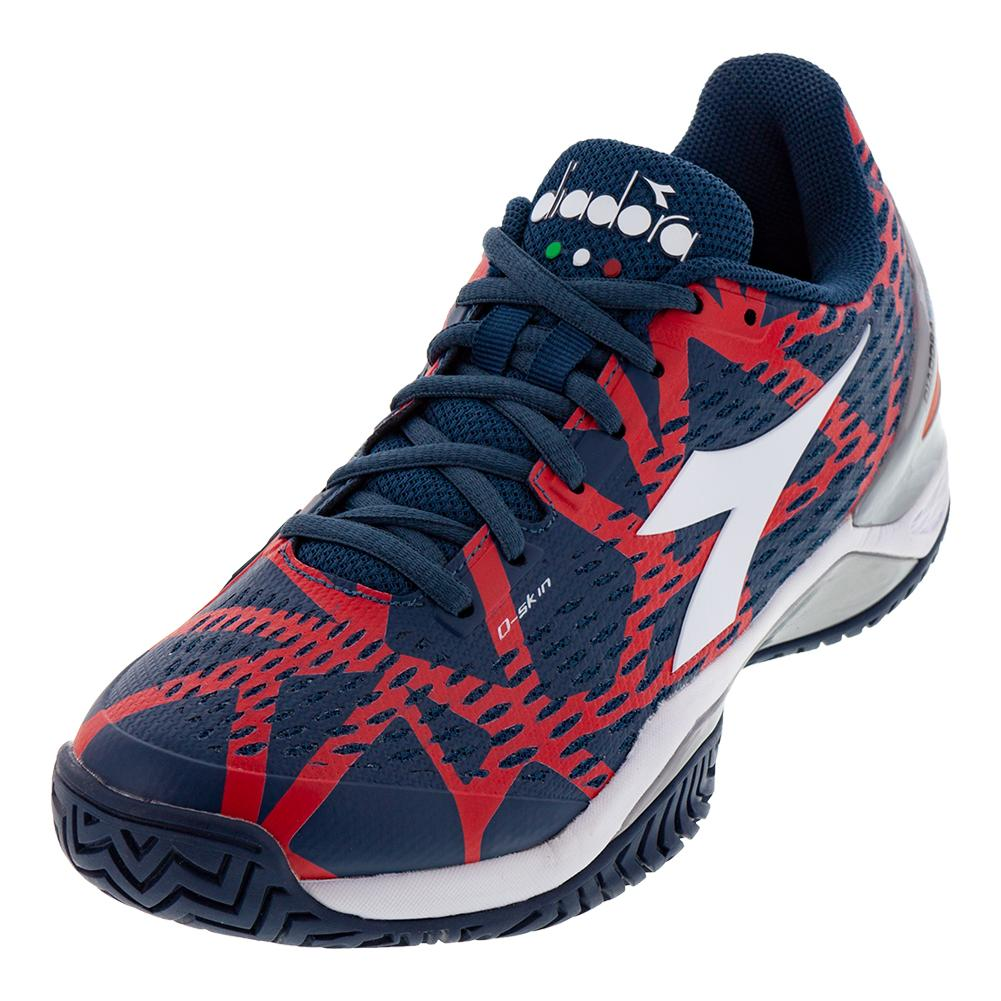Men's Speed Blueshield 2 Ag Tennis Shoes Dark Blue And Red Capital