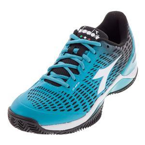 Women`s Speed Blueshield 2 Clay Tennis Shoes Black and Ceramic