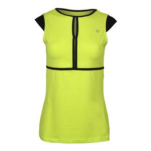 Women`s Volley Cap Sleeve Tennis Top Lime Popsicle