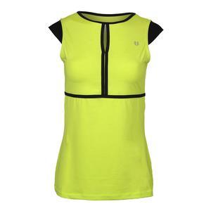 Women`s Volley Cap Sleeve Tennis Top Lime Popsicle