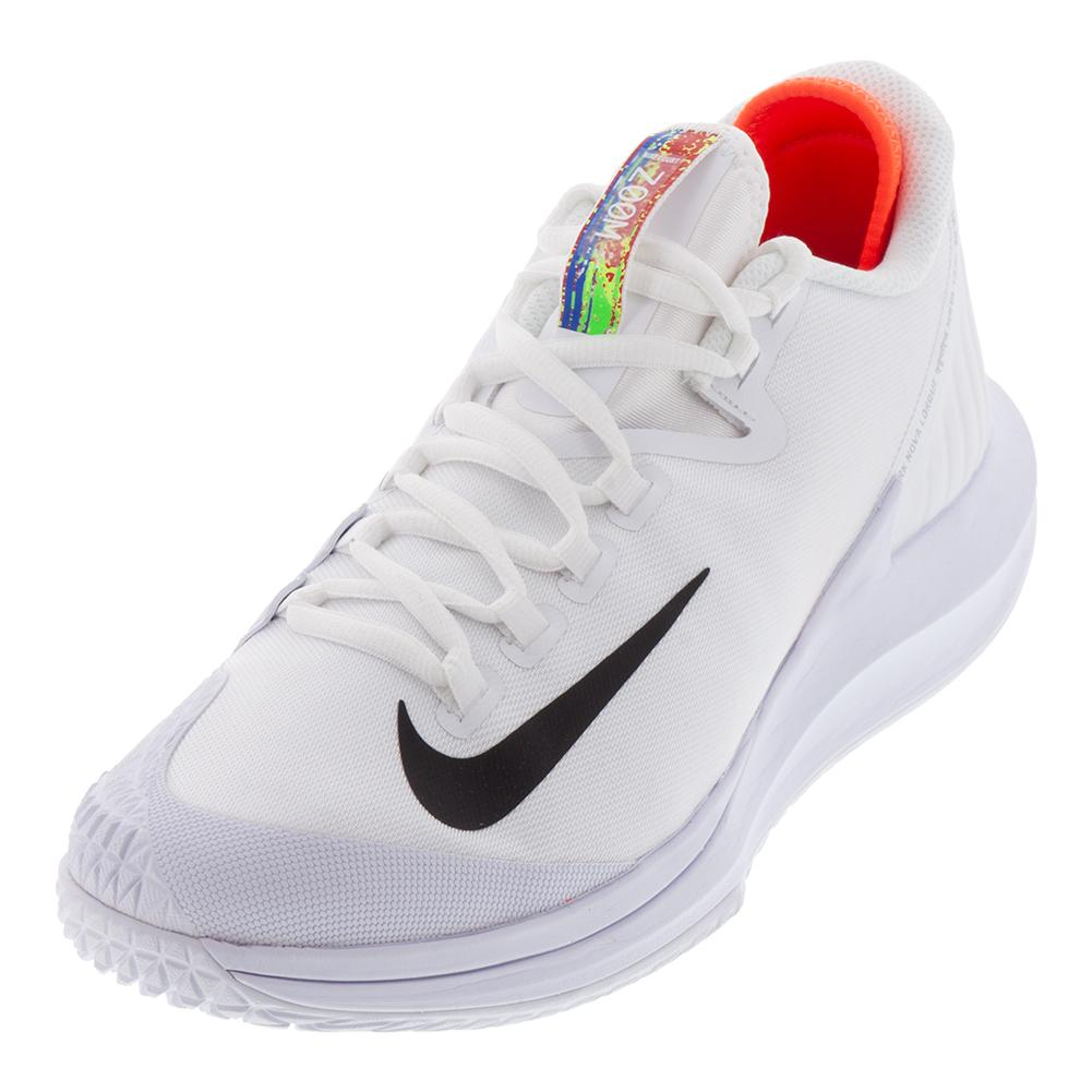 Women's Court Air Zoom Zero Tennis Shoes White And Black