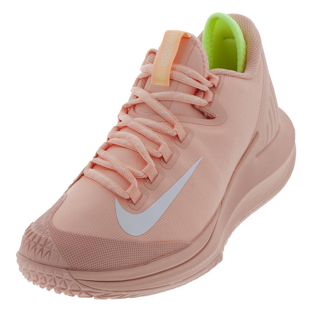 Women's Court Air Zoom Zero Tennis Shoes Arctic Orange And White