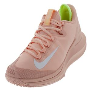 Women`s Court Air Zoom Zero Tennis Shoes Arctic Orange and White