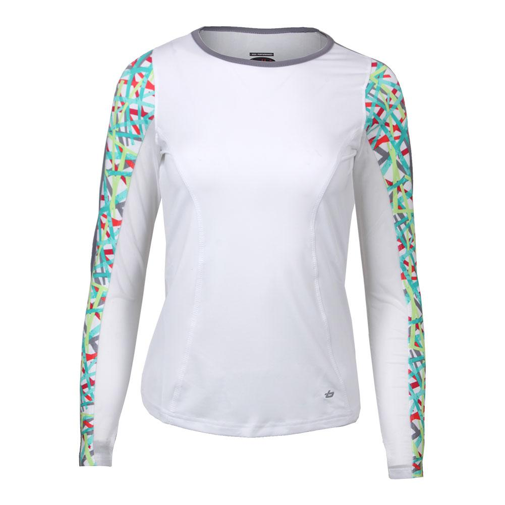 Bolle Women's Kaleidoscope Long Sleeve Tennis Top White