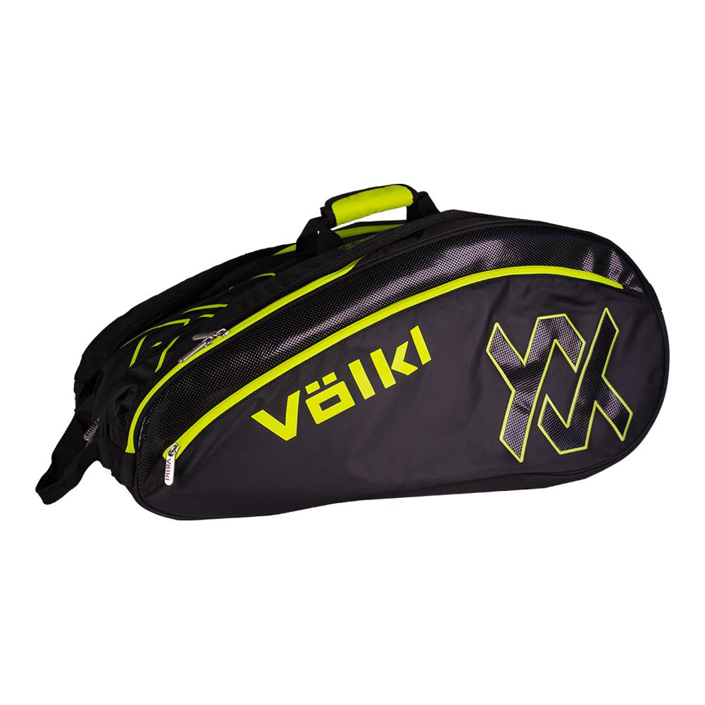 a5907de1b623 Volkl Tour Mega Tennis Bag Black and Neon Yellow