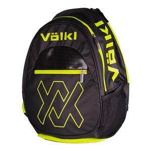 Tour Tennis Backpack Black and Neon Yellow