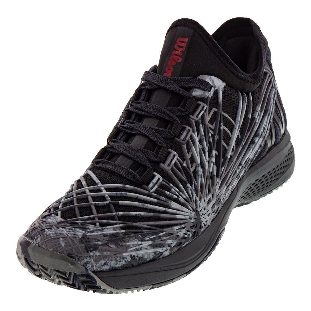 Men's Kaos 2.0 Sft Camo Tennis Shoes Black And Ebony