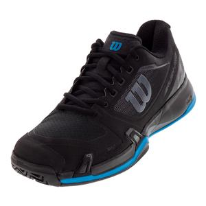 Men`s Rush Pro 2.5 Tennis Shoes Black and Hawaiian Surf