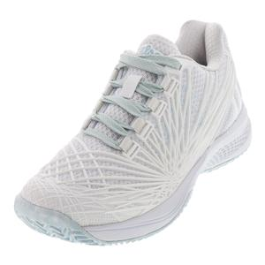 Women`s KAOS 2.0 Tennis Shoes White and Blue Glow