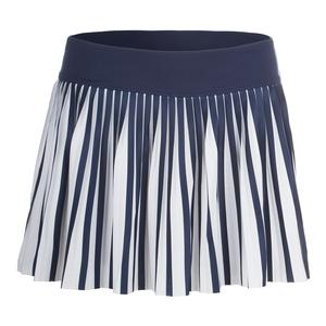 Women`s Heritage Pleated Tennis Skort Navy and White