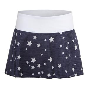 Women`s Heritage Flirty 13.5 Inch Tennis Skort Navy Star Print and White