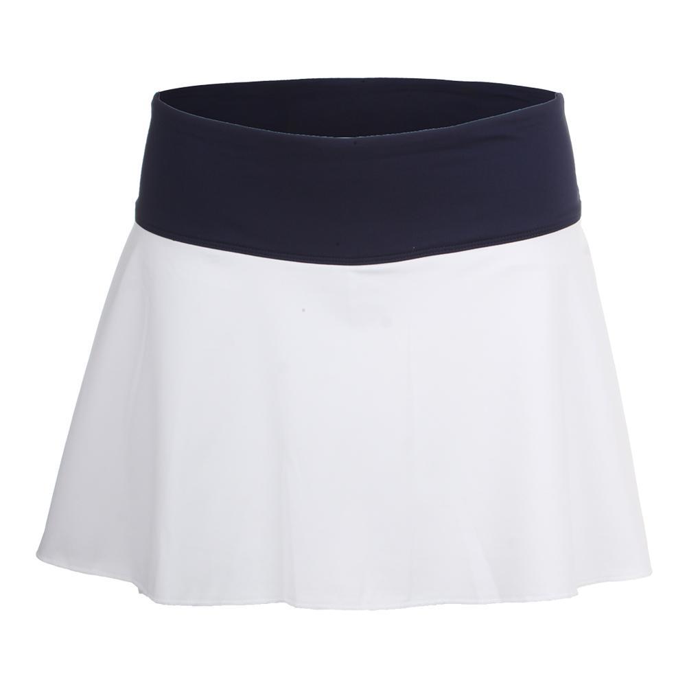 Women's Heritage Flirty 13.5 Inch Tennis Skort White And Navy