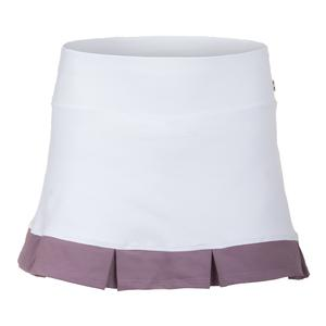 Women`s Divine Tennis Skort White and Satin