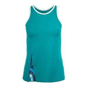Women`s Tempo Tennis Tank Peacock and Plume Print