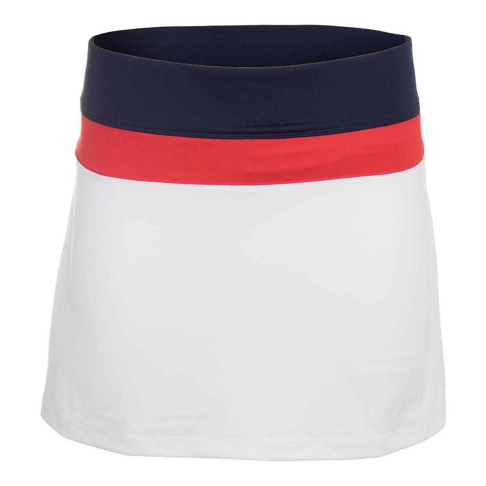a88eda3f2ed2 Fila Women's Heritage Colorblocked 14.5 Inch Tennis Skort White and Navy