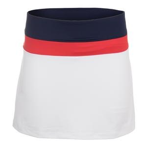 Women`s Heritage Colorblocked 14.5 Inch Tennis Skort White and Navy