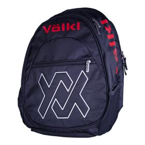 Team Tennis Backpack Black and Lava
