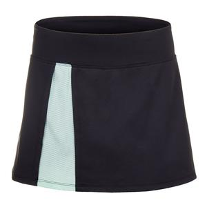 Women`s Vie 13 Inch Tennis Skort Black and Birds Egg