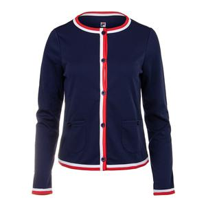 Women`s Heritage Tennis Jacket Navy and White