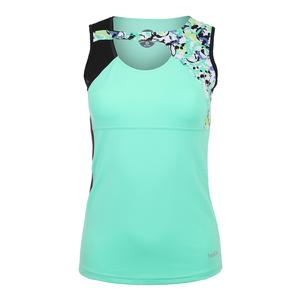 Women`s Whiplash Tennis Tank Sea Foam and Black