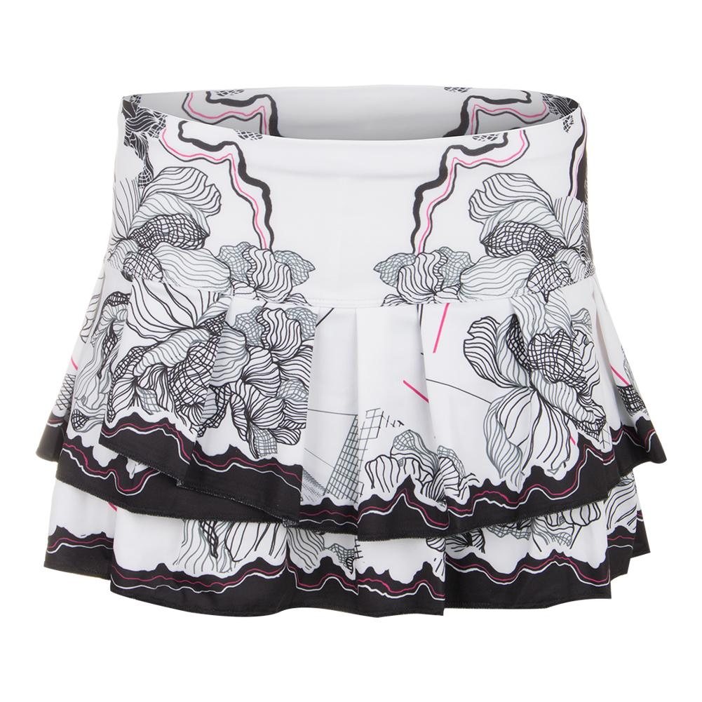 Women's Nexus Pleated Tier Tennis Skort Print