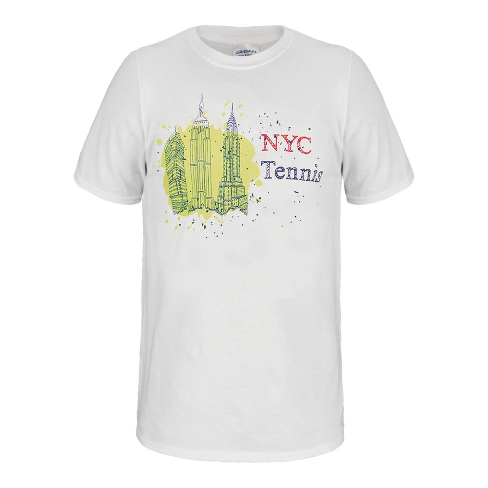 Nyc Splash Unisex Tennis Tee White