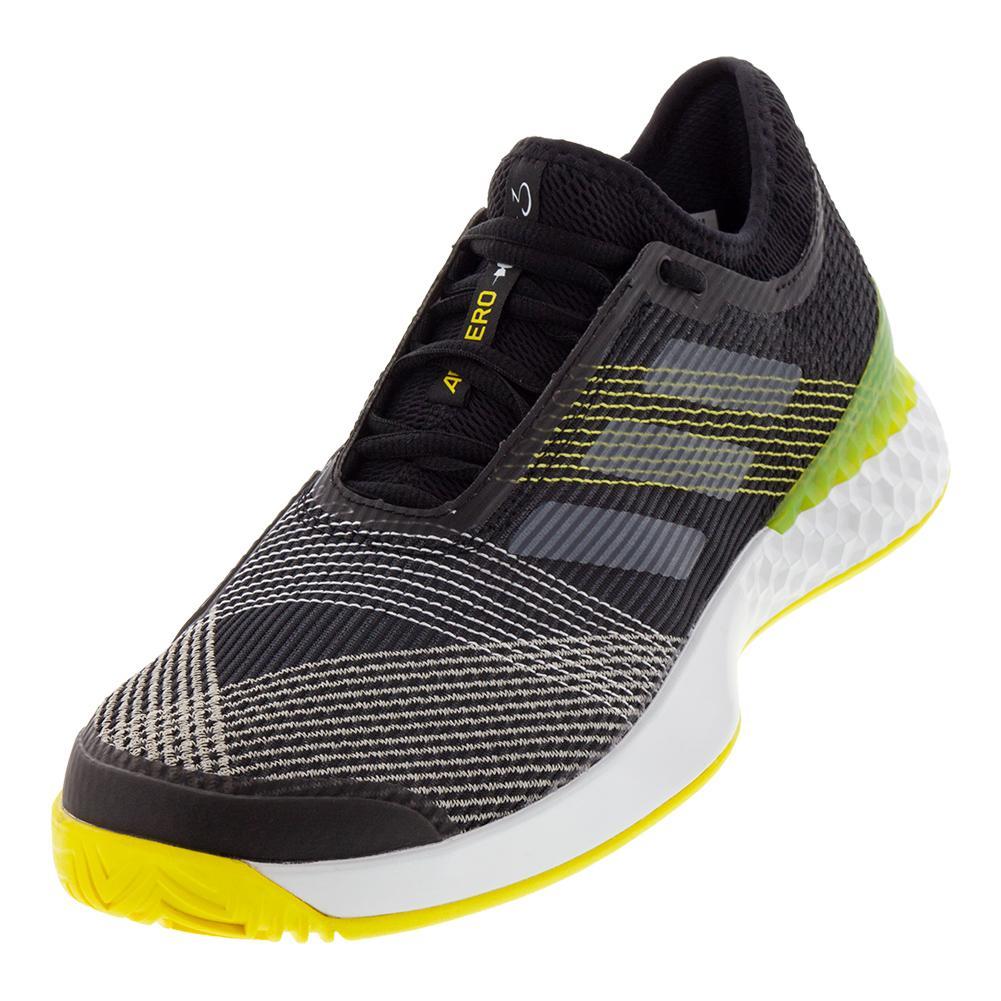 Men's Adizero Ubersonic 3 Tennis Shoes Black And White