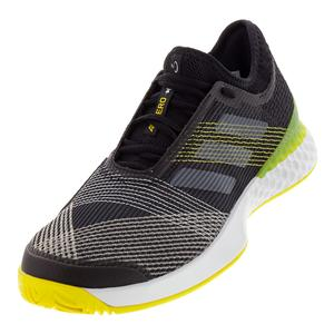 Men`s Adizero Ubersonic 3 Tennis Shoes Black and White