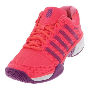 Women`s Hypercourt Express Tennis Shoes Neon Pink and Deep Orchid