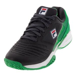 Men`s Axilus Energized Limited Edition Pro 1 Tennis Shoes Ebony and Bright Green