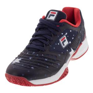 Women`s Axilus Energized Limited Edition Pro 1 Tennis Shoes Navy and White