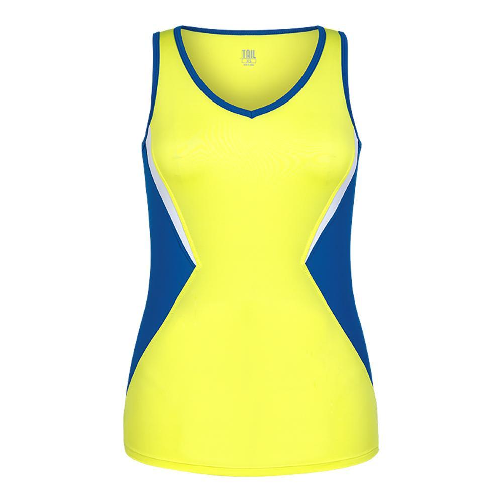 Women's Katrina Tennis Tank Lemon Tonic And Royal Teal