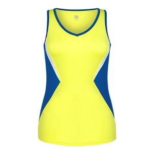 Women`s Katrina Tennis Tank Lemon Tonic and Royal Teal
