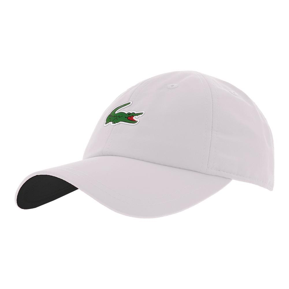 LACOSTE LACOSTE Men s Novak Djokovic On Court Poly Tennis Cap 5e6cba0ec90