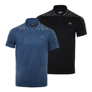 Men`s Novak Djokovic Ultra Dry Tennis Polo with Net Print