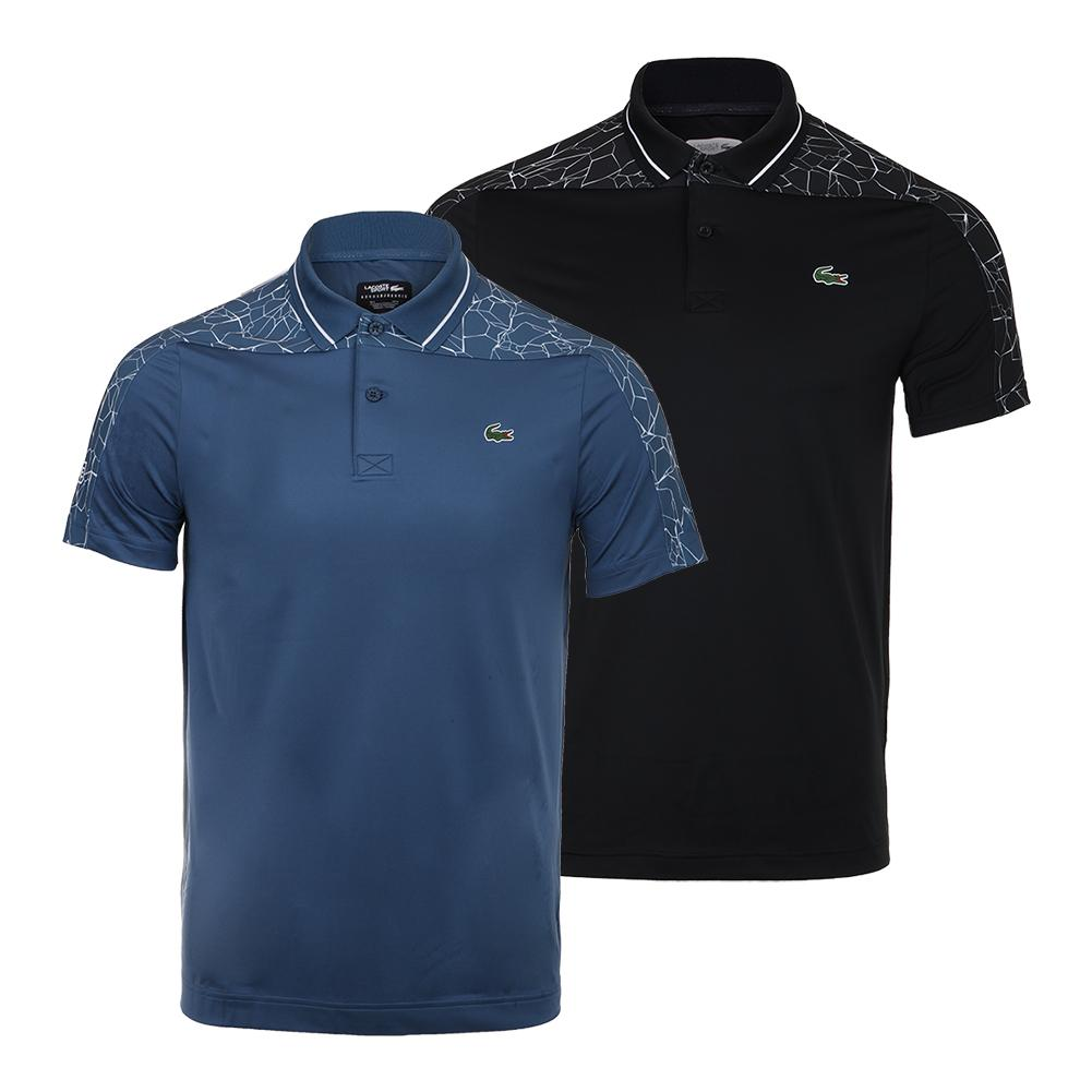 d7f740a20a Details about LACOSTE Men`s Novak Djokovic Ultra Dry Tennis Polo with Net  Print