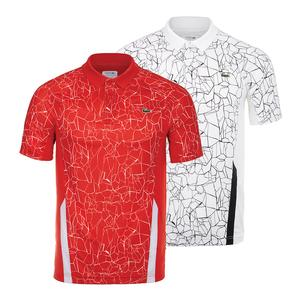 Men`s Novak Djokovic Ultra Dry Tennis Polo Net Print and Colorblock