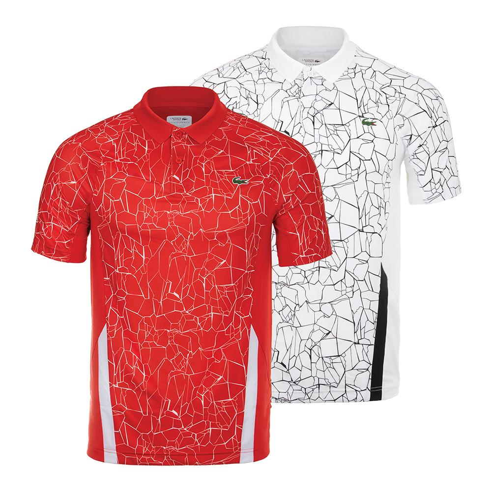 f2fa9c6ca LACOSTE - Men`s Novak Djokovic Ultra Dry Tennis Polo Net Print and ...