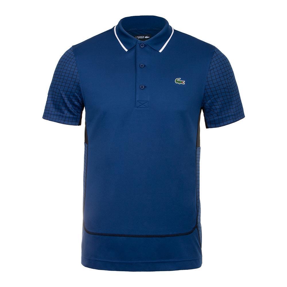 158e5c4f2 Lacoste Men`s Ultra Dry Net Print Colorblock Tennis Polo