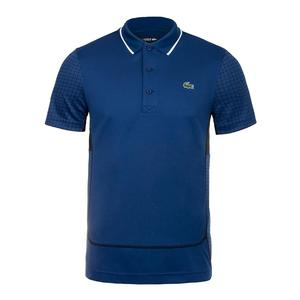 Men`s Ultra Dry Net Print Colorblock Tennis Polo