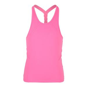 Girls` Breezy Back Braid Tennis Tank Pink