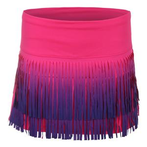 Women`s Ombre Fringe Tennis Skort Shocking Pink