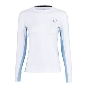 Girls` Advantage Long Sleeve Tennis Top White and Arctic