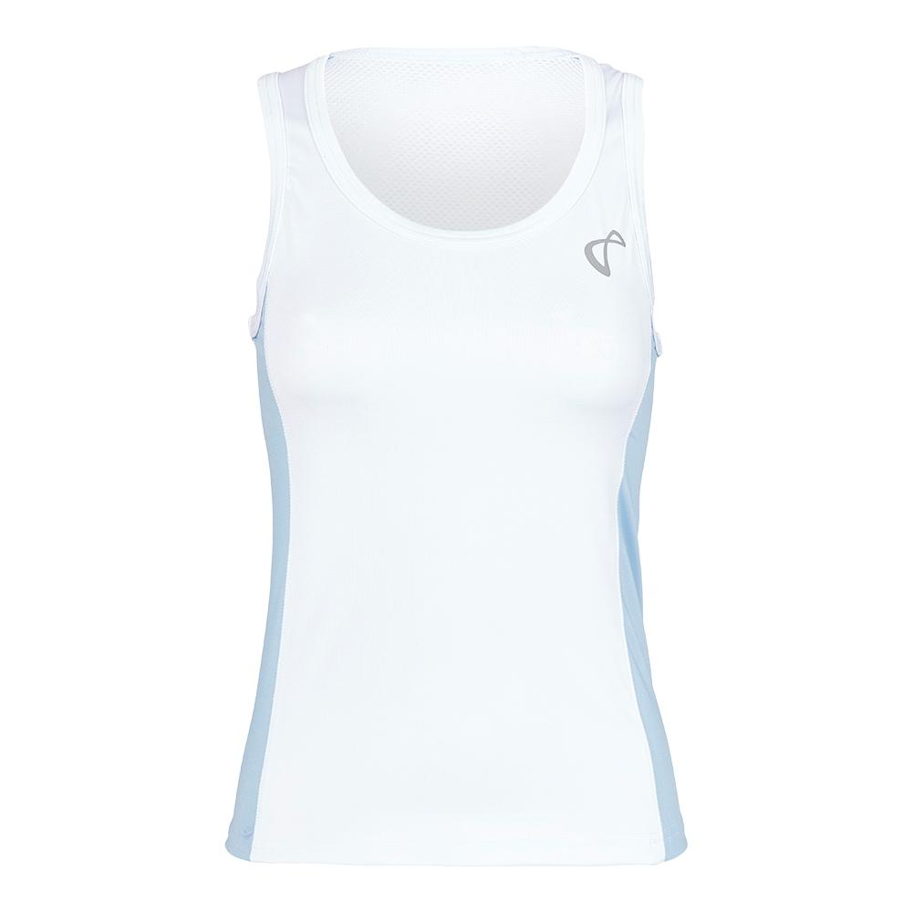 Girls ` Breeze Tennis Tank White And Arctic