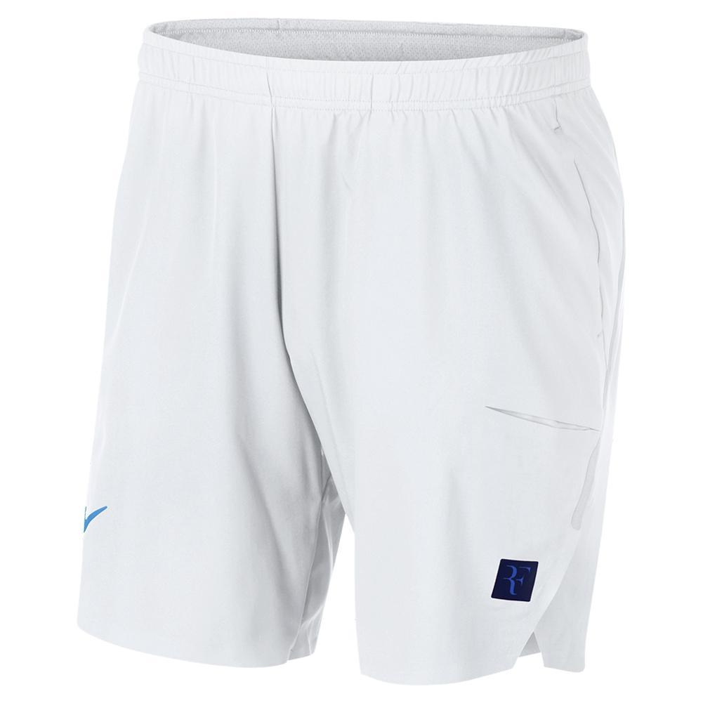 Men's Roger Federer Court 9 Inch Flex Ace Tennis Short White