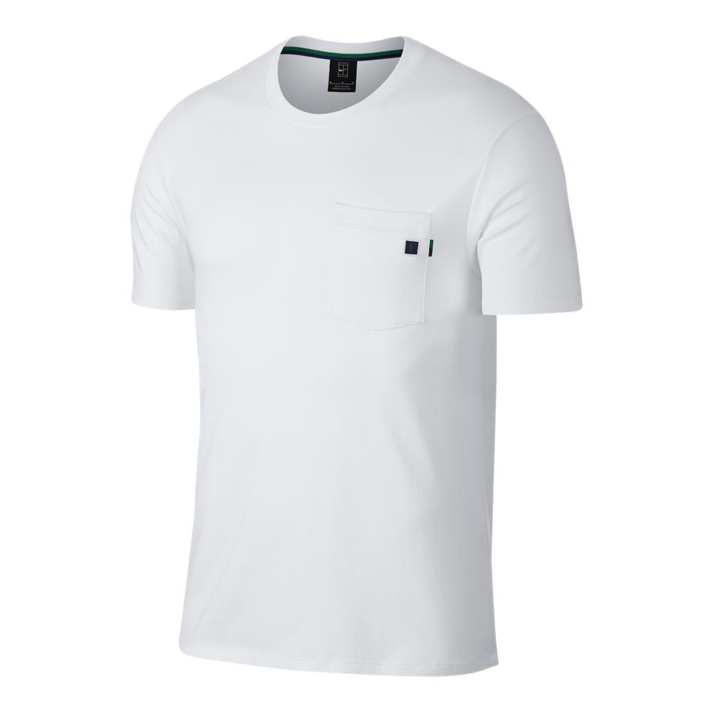 Men's Roger Federer Court Essential Tennis Crew White
